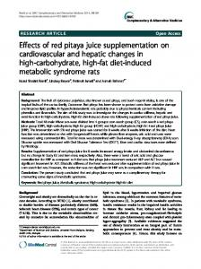 Effects of red pitaya juice supplementation on ... - BioMedSearch