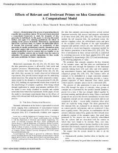 Effects of Relevant and Irrelevant Primes on Idea Generation: A ...
