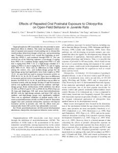Effects of Repeated Oral Postnatal Exposure to ... - Semantic Scholar