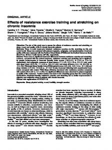Effects of resistance exercise training and stretching on chronic insomnia