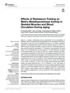 Effects of Resistance Training on Matrix
