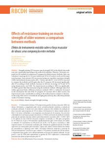 Effects of resistance training on muscle strength of older ... - Scielo.br