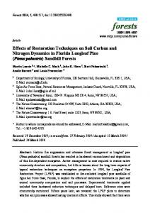 Effects of Restoration Techniques on Soil Carbon and Nitrogen - MDPI