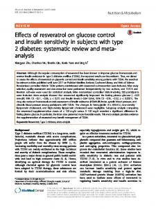 Effects of resveratrol on glucose control and insulin