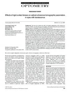 Effects of rigid contact lenses on optical ... - Wiley Online Library