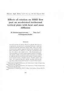 Effects of rotation on MHD flow past an accelerated ... - doiSerbia