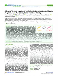 Effects of Se Incorporation in La5Ti2CuS5O7 by ... - ACS Publications