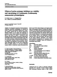 Effects of serine protease inhibitors on viability and ...