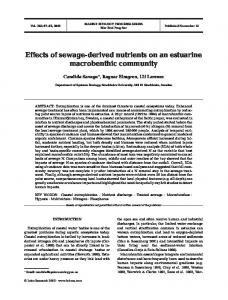 Effects of sewage-derived nutrients on an estuarine macrobenthic ...