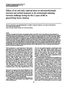 Effects of sex and early maternal abuse on adrenocorticotropin ...