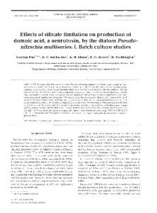 Effects of silicate limitation on production of domoic ... - Inter Research