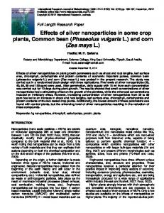 Effects of silver nanoparticles in some crop plants ...