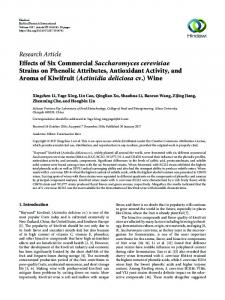 Effects of Six Commercial Saccharomyces cerevisiae Strains on ...