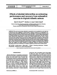 Effects of skeletal deformities on swimming performance and recovery ...