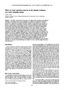 Effects of slope vegetation removal on the ... - Wiley Online Library