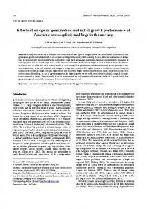 Effects of sludge on germination and initial growth ... - Springer Link