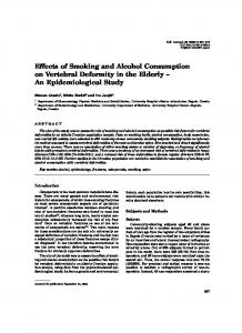 Effects of Smoking and Alcohol Consumption on
