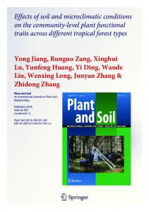Effects of soil and microclimatic conditions on the ...