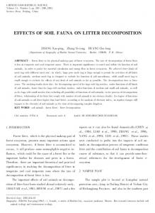 effects of soil fauna on litter decomposition