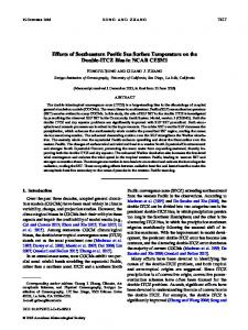 Effects of Southeastern Pacific Sea Surface Temperature on the