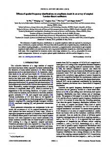 Effects of spatial frequency distributions on ... - Semantic Scholar