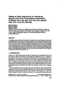 Effects of state regulations on marketing ... - Wiley Online Library