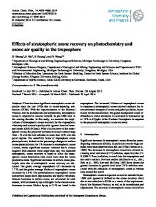 Effects of stratospheric ozone recovery on ... - Atmos. Chem. Phys