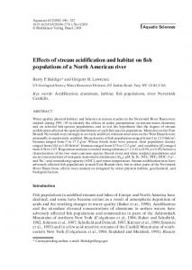 Effects of stream acidification and habitat on fish populations of a ...