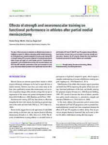 Effects of strength and neuromuscular training on ... - Semantic Scholar