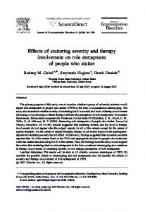 Effects of stuttering severity and therapy ... - Semantic Scholar
