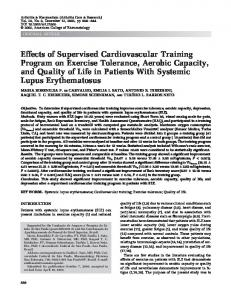 Effects of supervised cardiovascular training ... - Wiley Online Library