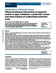 Effects of telecare intervention on glycemic control in type 2 diabetes ...