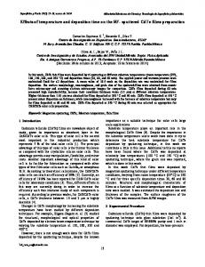 Effects of temperature and deposition time on the RF ... - CiteSeerX