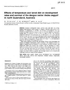 Effects of Temperature and Larval Diet on ...