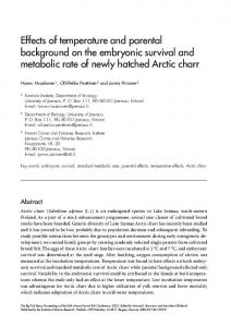 Effects of temperature and parental background on the ... - CiteSeerX