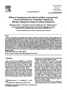 Effects of temperature and relative humidity on growth ...