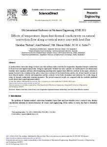 Effects of Temperature Dependent Thermal Conductivity on ... - Core