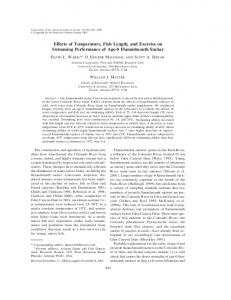 Effects of Temperature, Fish Length, and Exercise ... - Semantic Scholar