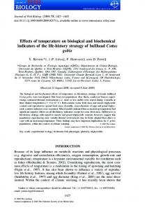 Effects of temperature on biological and ...