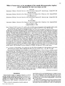 Effects of temperature on the oncospheres of the cestode ... - Core