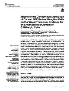 Effects of the Concomitant Activation of ON and OFF Retinal Ganglion ...