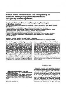 Effects of the nanostructure and nanoporosity on ... - Wiley Online Library