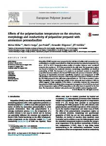 Effects of the polymerization temperature on the