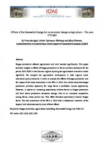 Effects of the Renewable Energy Act on structural ... - AgEcon Search
