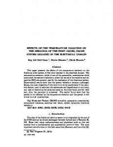 EFFECTS OF THE TEMPERATURE VARIATION ON ...