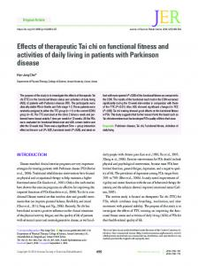 Effects of therapeutic Tai chi on functional fitness ... - Semantic Scholar