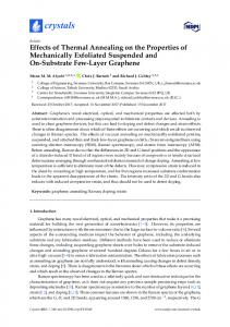 Effects of Thermal Annealing on the Properties of Mechanically ... - MDPI