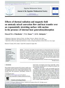 Effects of thermal radiation and magnetic field on ...
