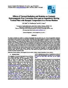 Effects of Thermal Radiation and Rotation on Unsteady