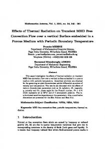 Effects of Thermal Radiation on Transient MHD Free ... - Hilaris